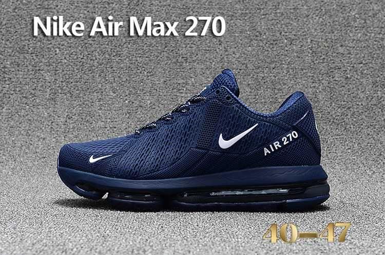 Nike Air Max Flair Nike 270 Kpu Men Navy White 40 47 In 2020 Nike Air Cheap Nike Air Max Sneakers Men Fashion