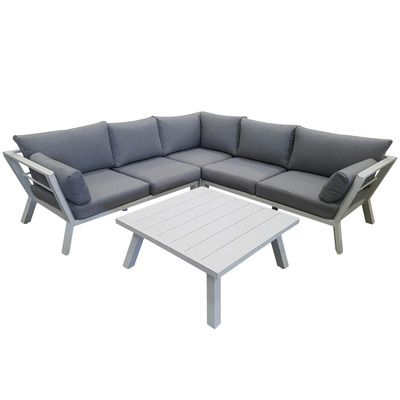 Vibrant Living 5 Seater Airley Outdoor Lounge Set ...