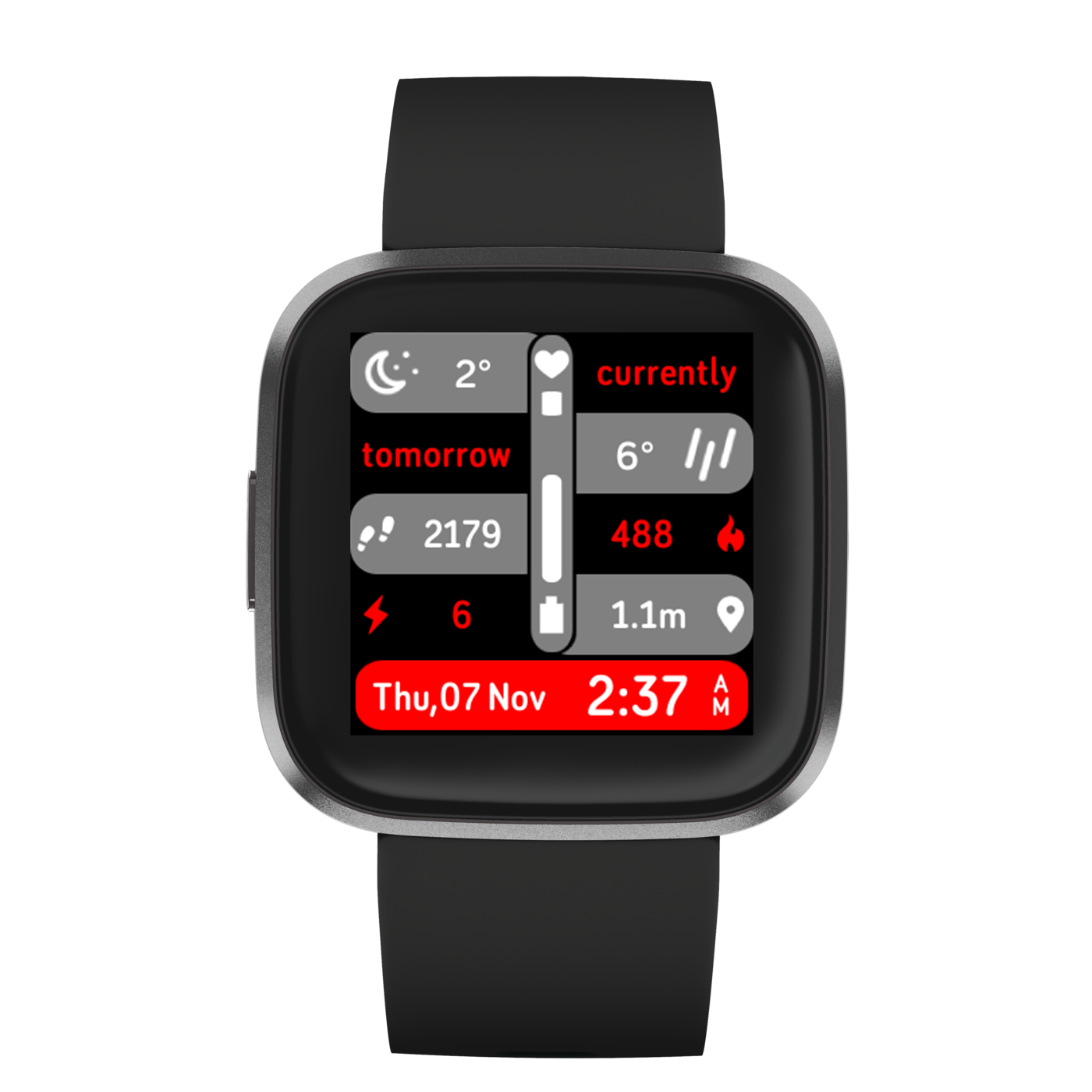 www.watchfacestore.com has amazing #fitbit #watchfaces. Get to know the Locoh. View the current weat...