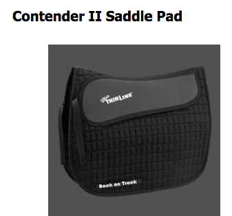 The maximum shock absorption and comfort saddle pad for both you and your horse...  http://www.backontrackproducts.com//Horse-Products/Horse-Saddle-Pads/Contender-II-Saddle-Pad-p313.html