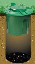 Doggie Dooley Dog Poop Composter helps keep your yard clean.