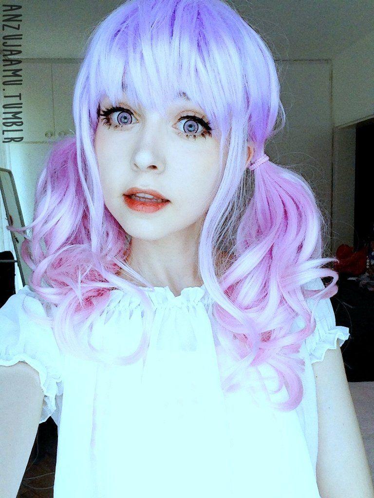 Kawaii Cute Soft Pink Pastel Harajuku Curly Sugar Wavy