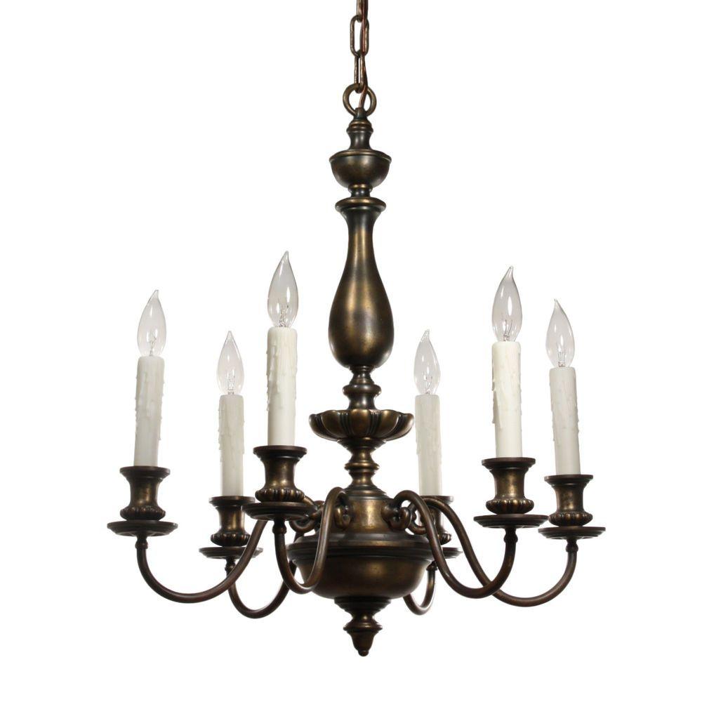 Details About Antique Colonial Revival Chandelier Cast