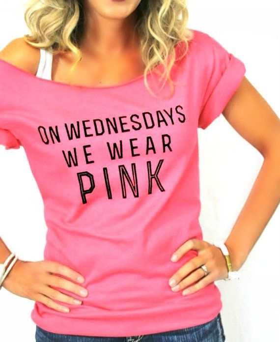 eda12acd FREE SHIPPING- On Wednesdays We Wear Pink, Off Shoulder Shirt, Off Shoulder  Top, (women, teen girls) on Etsy, $31.95