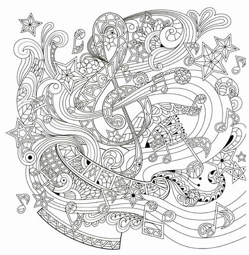 Music Beautiful Day Coloring Book