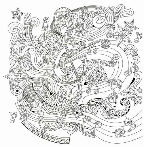 Music Beautiful Day Coloring Book Aliexpress Malvorlagen Für