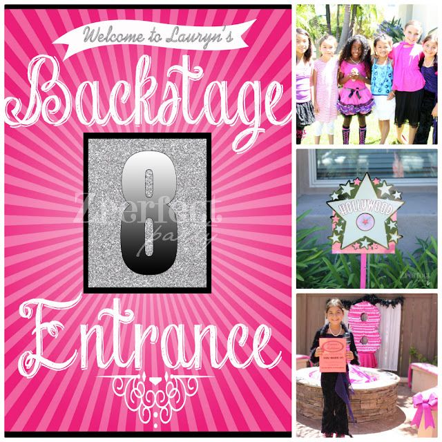 Rock Star Party Place Ideas for a Girls Pop Star Idol Party