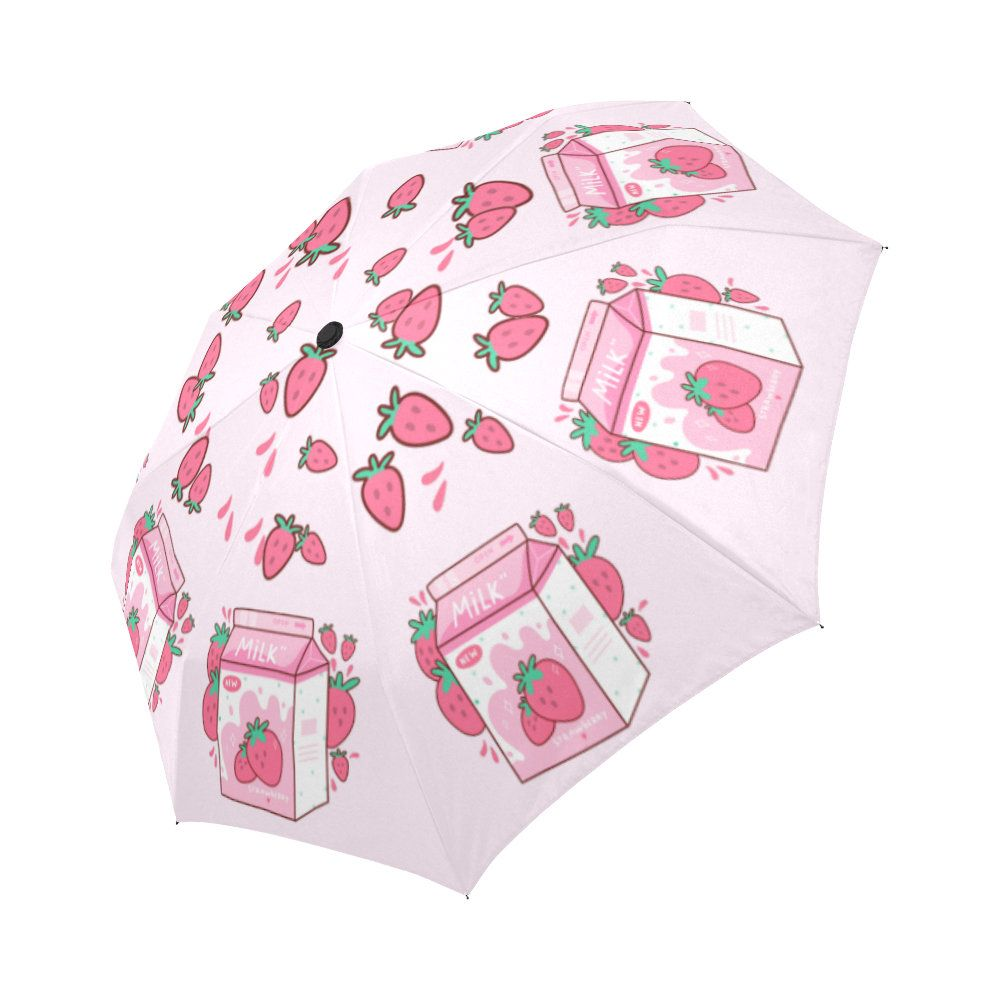 Japanese Strawberry Milk Cute Pink Umbrella   Pastel Goth Accessories   Pink Rain Umbrella   Kawaii Japan Goods Gift is part of Kawaii japan, Pastel goth, Cute pink, Kawaii, Pink umbrella, Umbrella - Japanese Strawberry Milk Cute Pink Umbrella   Pastel Goth Accessories   Pink Rain Umbrella   Kawaii Japan Goods Gift PRODUCT DESCRIPTION  This kawaii cute stylish umbrella will provide you with the most professional protection from rain or sunshine   Wellconstructed umbrella frame with a very cute pattern that shows your personality in the crowd   This design makes you stand out in the crowd when walking outdoors in the rain, and when it doesn't rain, it's easy to slip into your handbag or backpack   AUTOMATIC Umbrella Features   Type 100% Polyester Pongee Waterproof Fabric and Aluminium, 37 4 (W) x 24 4 (H) (8 Ribs), OneSide Printing 14 53 Oz  Made from 100% polyester pongee waterproof fabric  Using a heat sublimation technique to prevent discoloring, longlasting effects  8 ribs made from strong fiber for extra support  Hefty rubberized handle provides a comfortable sturdy grip, sized in 11 42 inches  The autoopen close system can operate it with one hand in one second  Umbrella Dimensions Closed Length 11 42 inch, Coverage Diameter 37 4 inches   AntiUV MANUAL Inverted Umbrella Features  Type 100% Polyester Pongee Fabric, Anti UV Umbrella, 37 01 (W) x 25 6 (H) (8 Ribs), OneSide Printing 13 05 Oz  Made from 100% polyester  Reversed folding to keep rainwater from leaking out and wetting your clothes Top grade antiUV cover protects you from UV radiation  8 ribs made from strong fiber for extra support  Longlasting effects  Using a heat sublimation technique to prevent discoloring  Each rib sized in 21 7 inches and consists of 3 section aluminum for flexibility and strength  Gripped handle for firm hold, sized in 25 6 inches  Umbrella Dimensions Closed Length 10 04 inch, Coverage Diameter 37 01 inches   AntiUV AUTOMATIC Umbrella Features  Type 100% Polyester Pongee Fabric, Anti UV Umbrella, 37 01 (W) x 25 6 (H) (8 Ribs), OneSide Printing 13 05 Oz  Made from 100% polyester  Premium quality umbrella built to endure over time with aesthetic durability  Top grade antiUV cover protects you from UV radiation  8 ribs made from strong fiber for extra support  Longlasting effects  Using a heat sublimation technique to prevent discoloring  Each rib sized in 21 7 inches and consists of 3 section aluminum for flexibility and strength  Gripped handle for firm hold, sized in 25 6 inches  Umbrella Dimensions Closed Length 10 04 inch, Coverage Diameter 37 01 inches