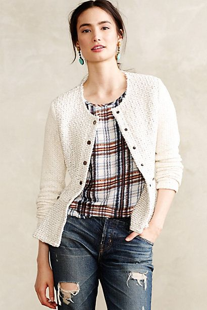 Love the slashed side zippers... and the faux-peplum back. |  Looped Moto Jacket - anthropologie.com