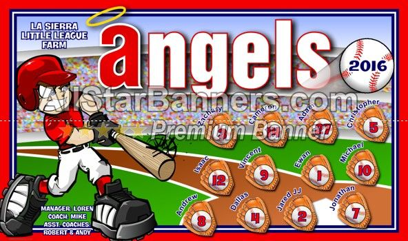 Angels Baseball Banner Idea From Allstarbanners Com We Do Soccer Banners Baseball Banners Softball Banne Baseball Banner Baseball Banner Design Soccer Banner