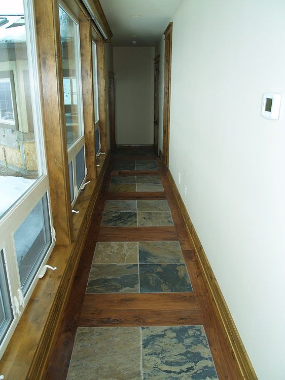 Slate And Hardwood Floor Google Search Flooring Pinterest