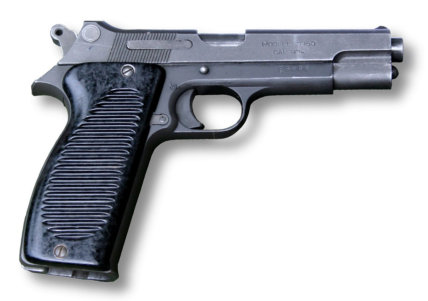 The MAC-50 (also known as the Modèle 1950) is a standard semi-automatic pistol of the French army, adopted in 1950. It replaced the previous series of French pistols, the Modèle 1935A and Modèle 1935S, and was produced between 1950 and 1970. It was first made by MAC (Manufacture d'armes de Châtellerault) then by MAS (Manufacture d'Armes St. Etienne), both of which are French government-owned arms factories. It was superseded by the PAMAS G1, the French-licensed copy of the Beretta 92FS.