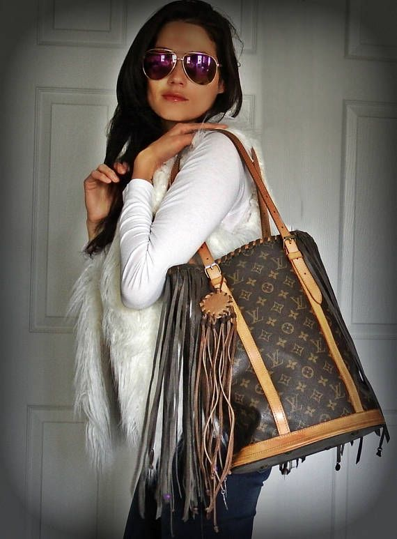 91d24bb4bbce No better accessory for any day than our fringed Louis Vuitton!  boho   fringe