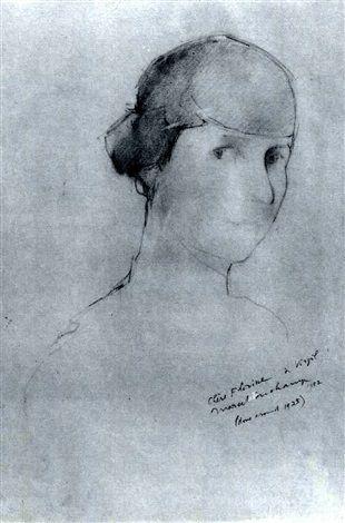 PORTRAIT OF FLORINE STETTHEIMER by Marcel Duchamp