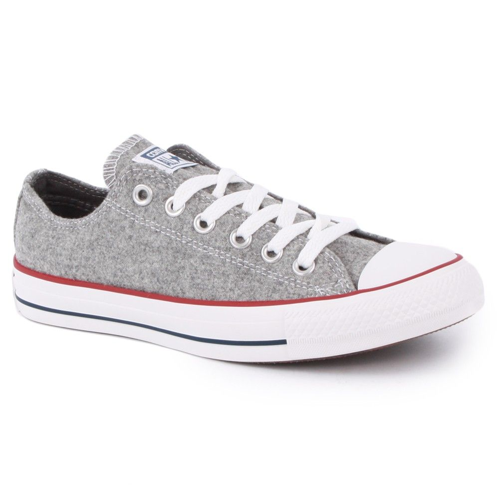 eef4be898b2 Converse Chuck Taylor All Star Wool Ox Womens Trainers in Grey ...