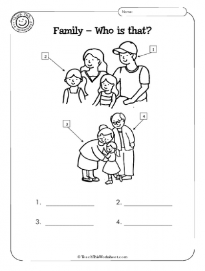 my family kindergarten worksheet - Google Search | History ...