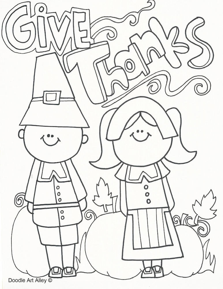 Thanksgiving Coloring Pages | Word search, Maze and Thanksgiving