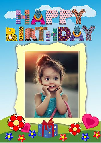 Pin by RonyaSoft Poster Designer on Event Posters | Pinterest ... Create impressive Happy Birthday poster and congratulate your children.  Only a few minutes you can