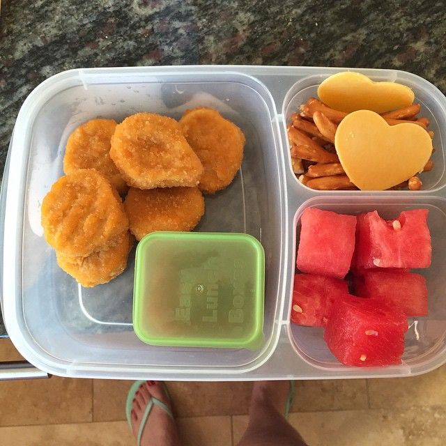 Nuggets Box Set: Quick And Easy Lunch Idea! Chicken Nuggets Packed For