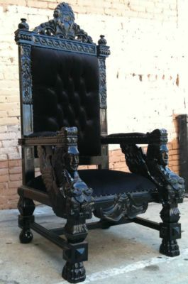 Xxl Black King Ralph S Chair Glamorous Diva Throne Loveseat Castle Antique Gothic Furniture Gothic Decor Antiques
