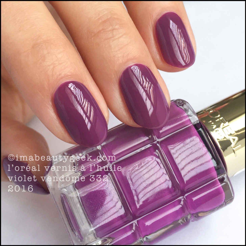 L\'Oréal Le Vernis à L\'Huile – Violet Vendôme 332 | Vernis ongles ...
