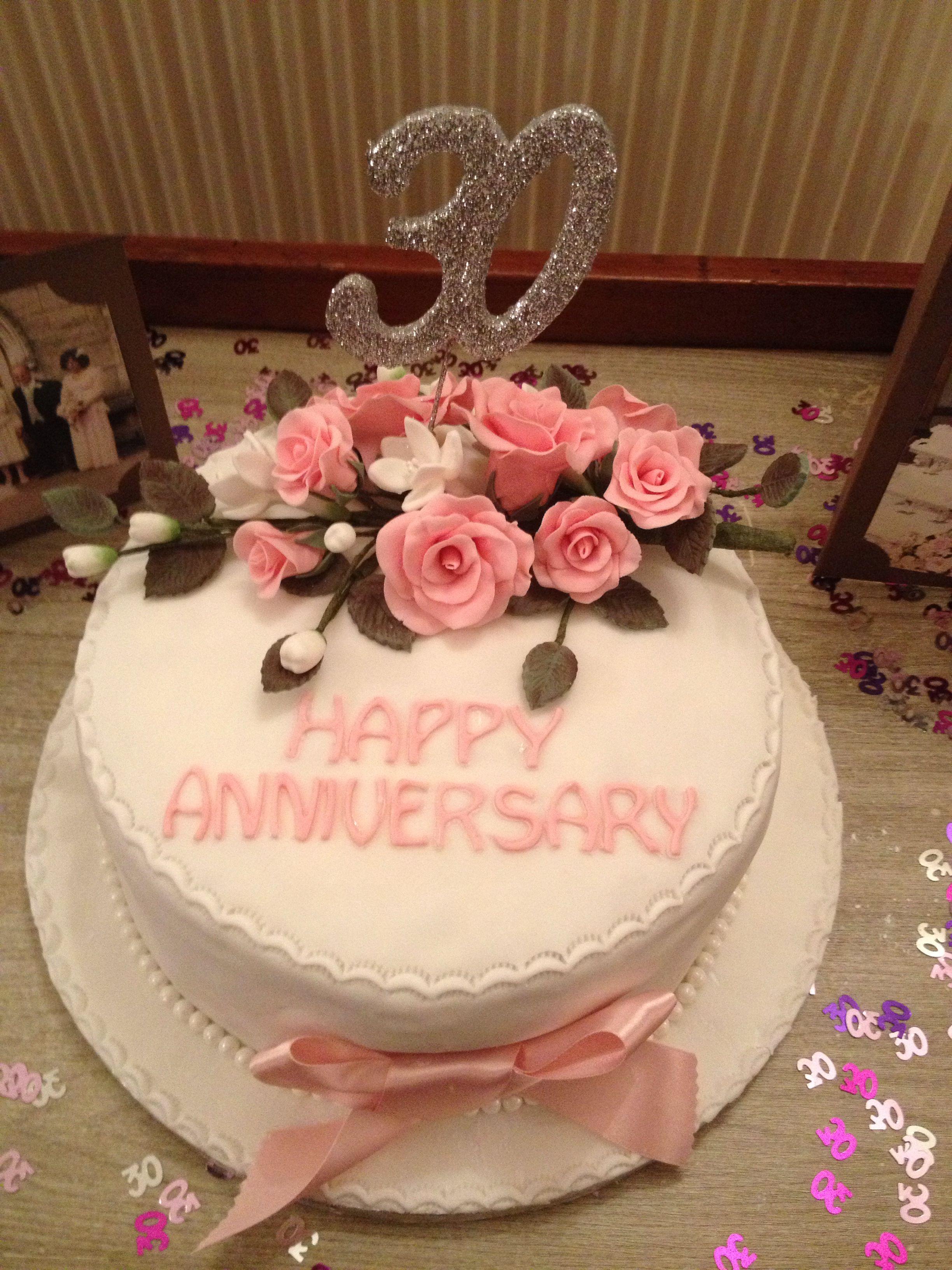 30th Wedding Anniversary Cake 30th Wedding Anniversary Cake Wedding Anniversary Cake Anniversary Cake