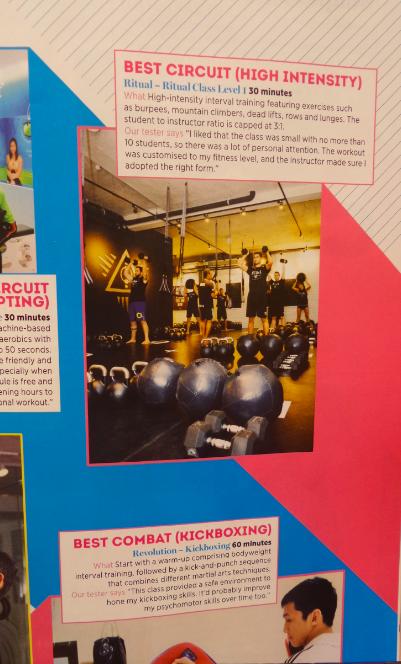 "Ritual wins Shape Magazine ""Best Circuit HIgh Intensity Gym"""
