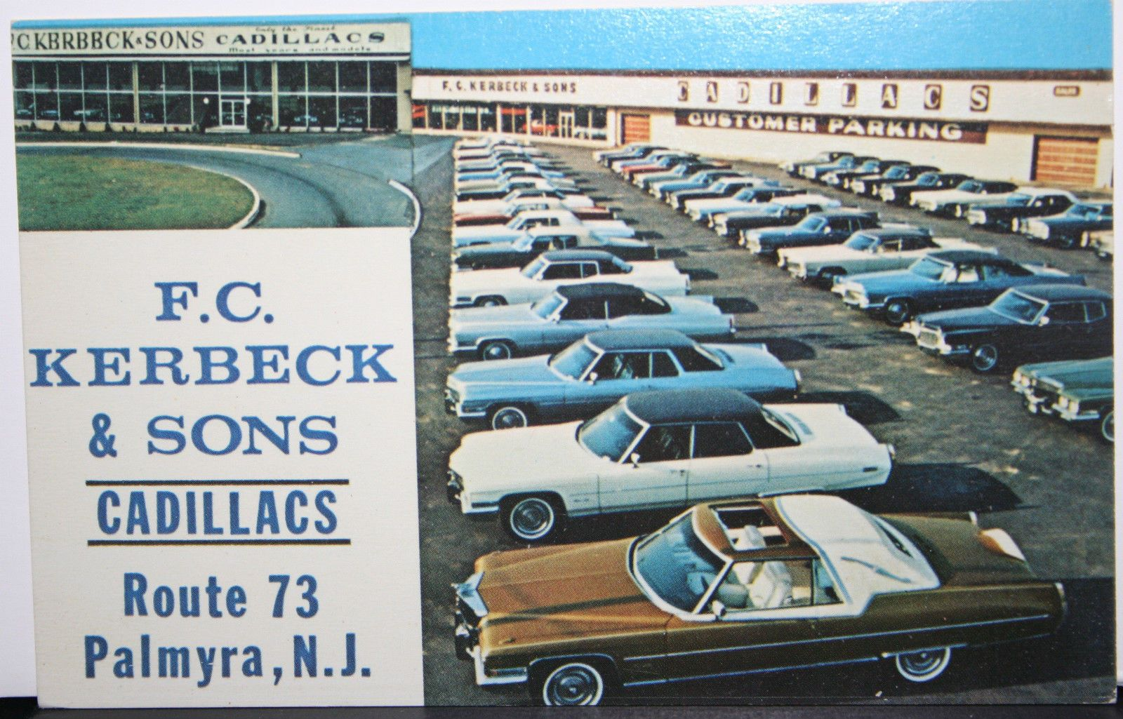 1972 cadillac dealer f c kerbeck sons palmyra nj look at that