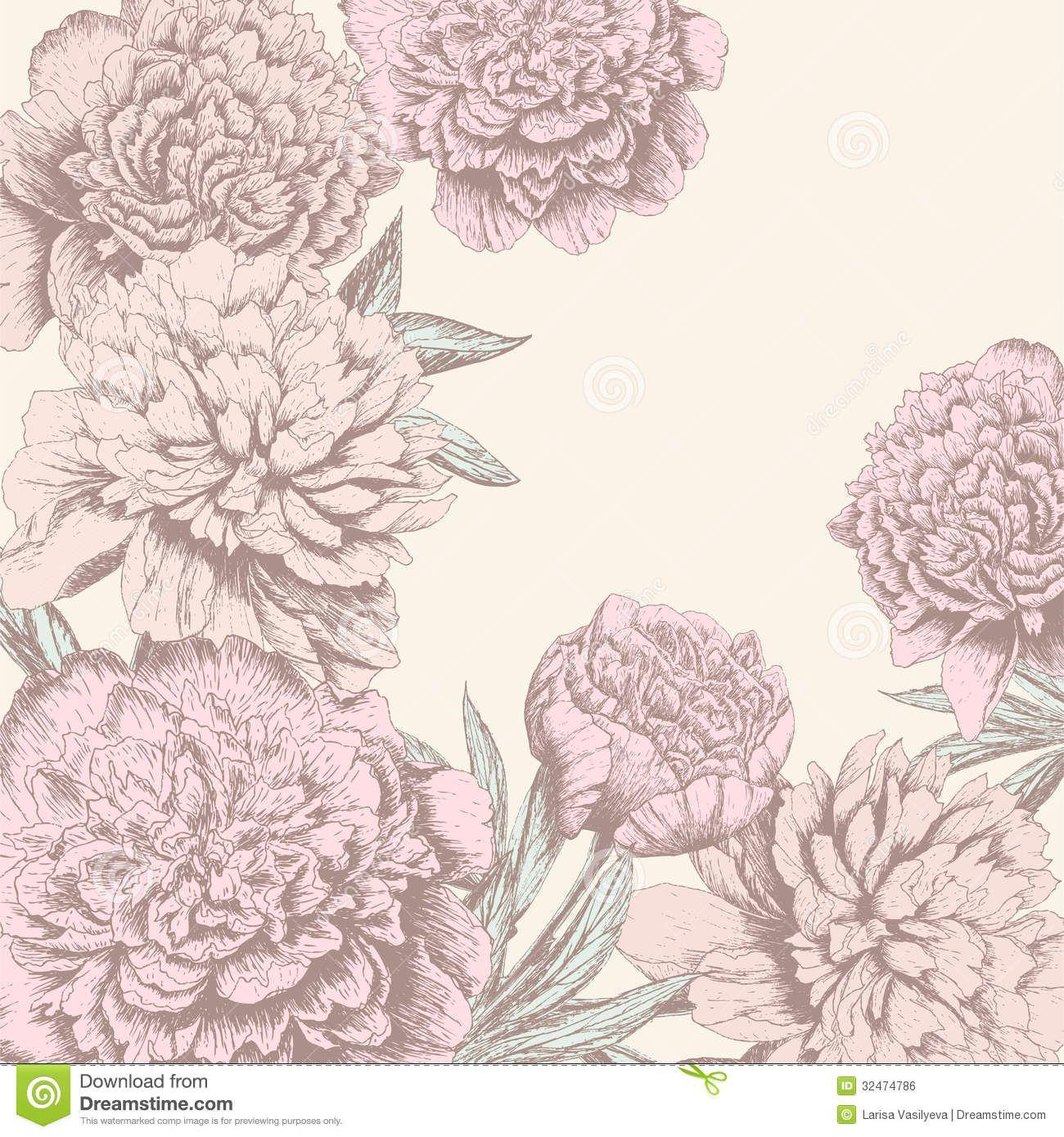 Vintage Flower Background Royalty Free Stock Image Image