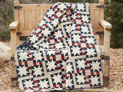 Check out Craftsy's popular quilting kits: supplies + pattern ... : old glory quilt - Adamdwight.com