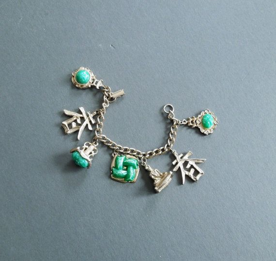 Charm bracelet  Estate jewelry  Asian Inspired  by GUTTERSNIPES