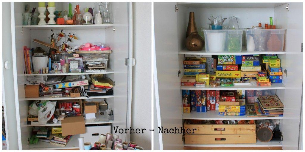 b ro bastelzimmer makeover ordnung im schrank little miss organized pins pinterest. Black Bedroom Furniture Sets. Home Design Ideas