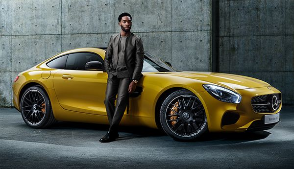 gq uk tinie tempah and the mercedes amg gt on behance. Black Bedroom Furniture Sets. Home Design Ideas
