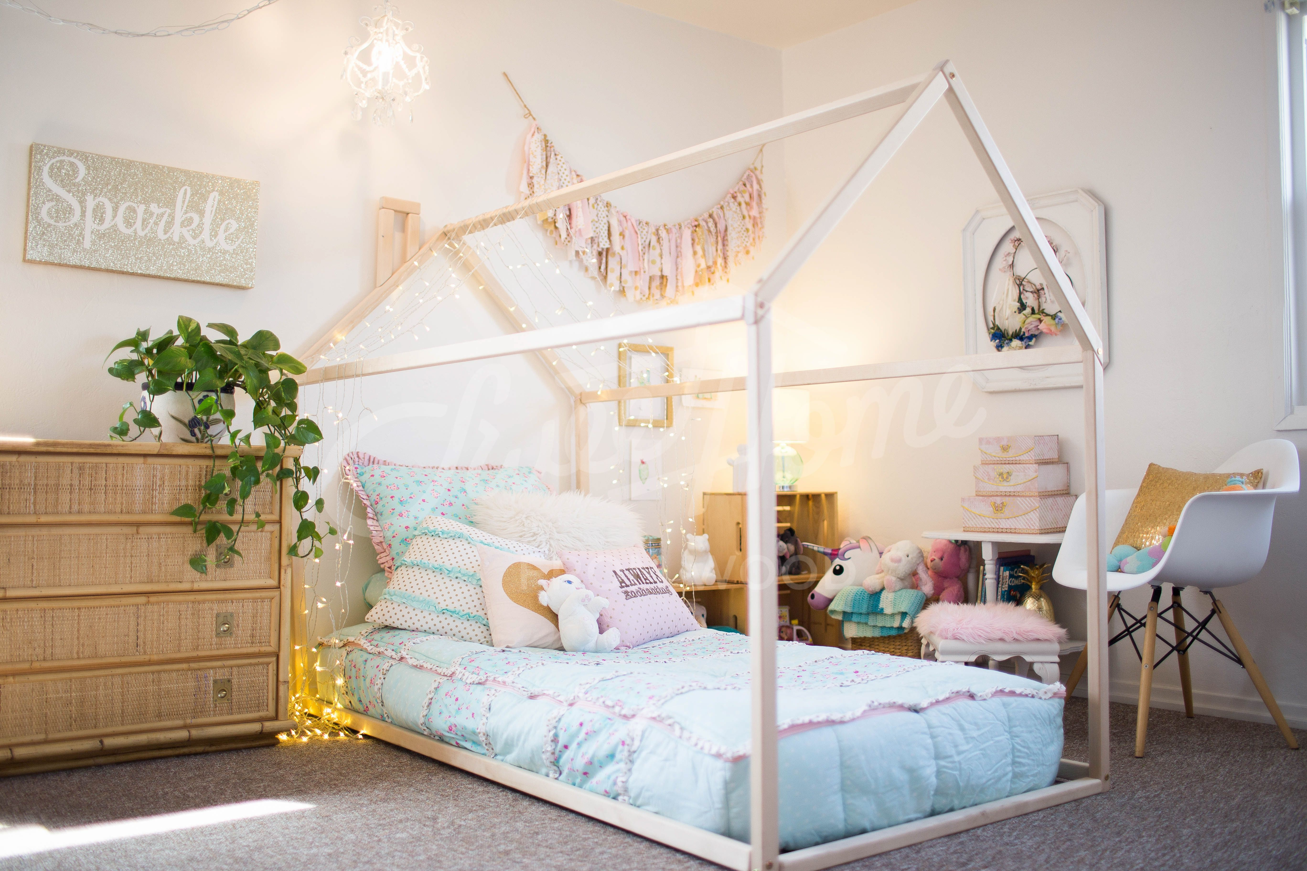 Toddler Bed Full Double Treehouse Bed House Bed Children Bed