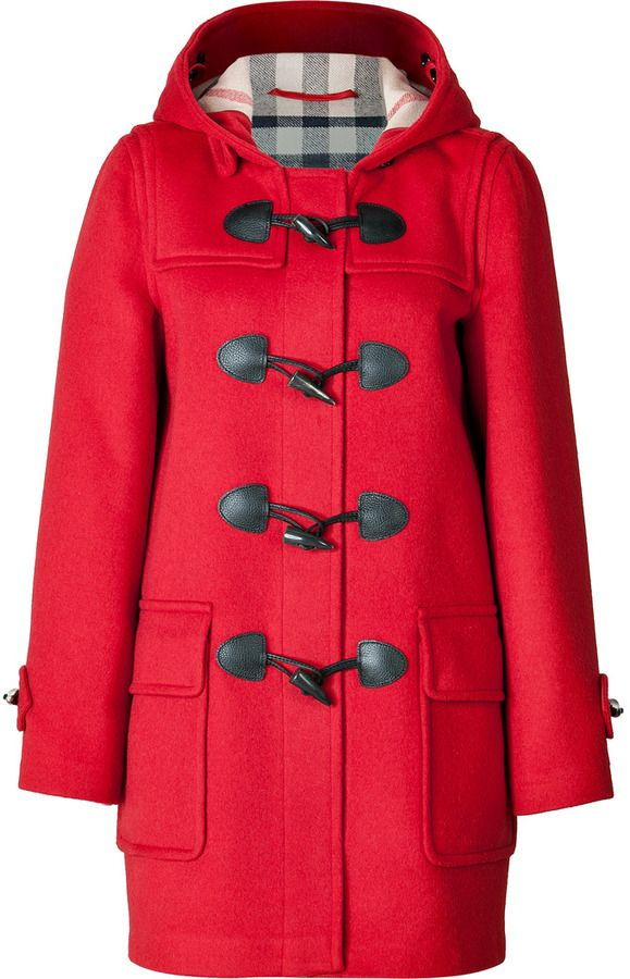 Brit Wool Minstead Duffle Coat In Military Red | Duffle coat
