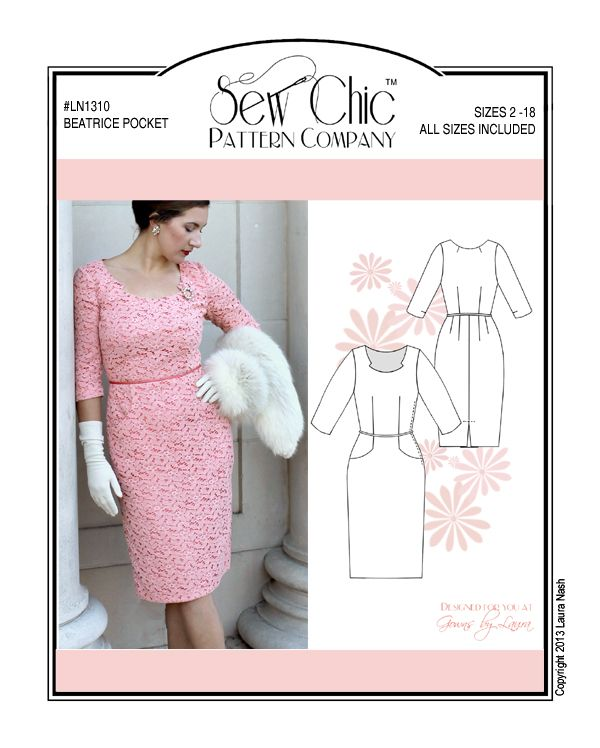 Sewing Pattern Sew Chic LN1310 Beatrice, Pattern Cover | Sewing ...