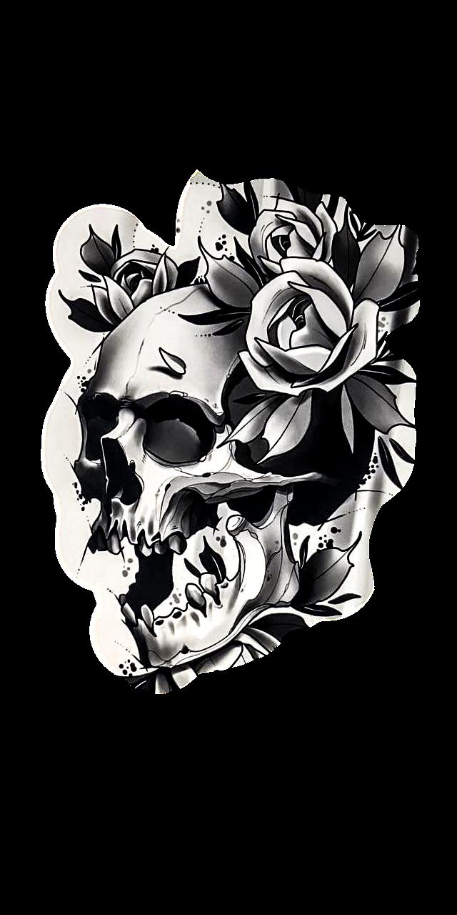 Skull Rose Skull Rose Tattoos Black Rose Tattoos Black Rose Tattoo Coverup
