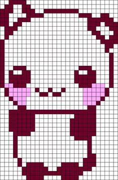 Cute Animal Pixel Art Templates Google Search Pixel Bordado