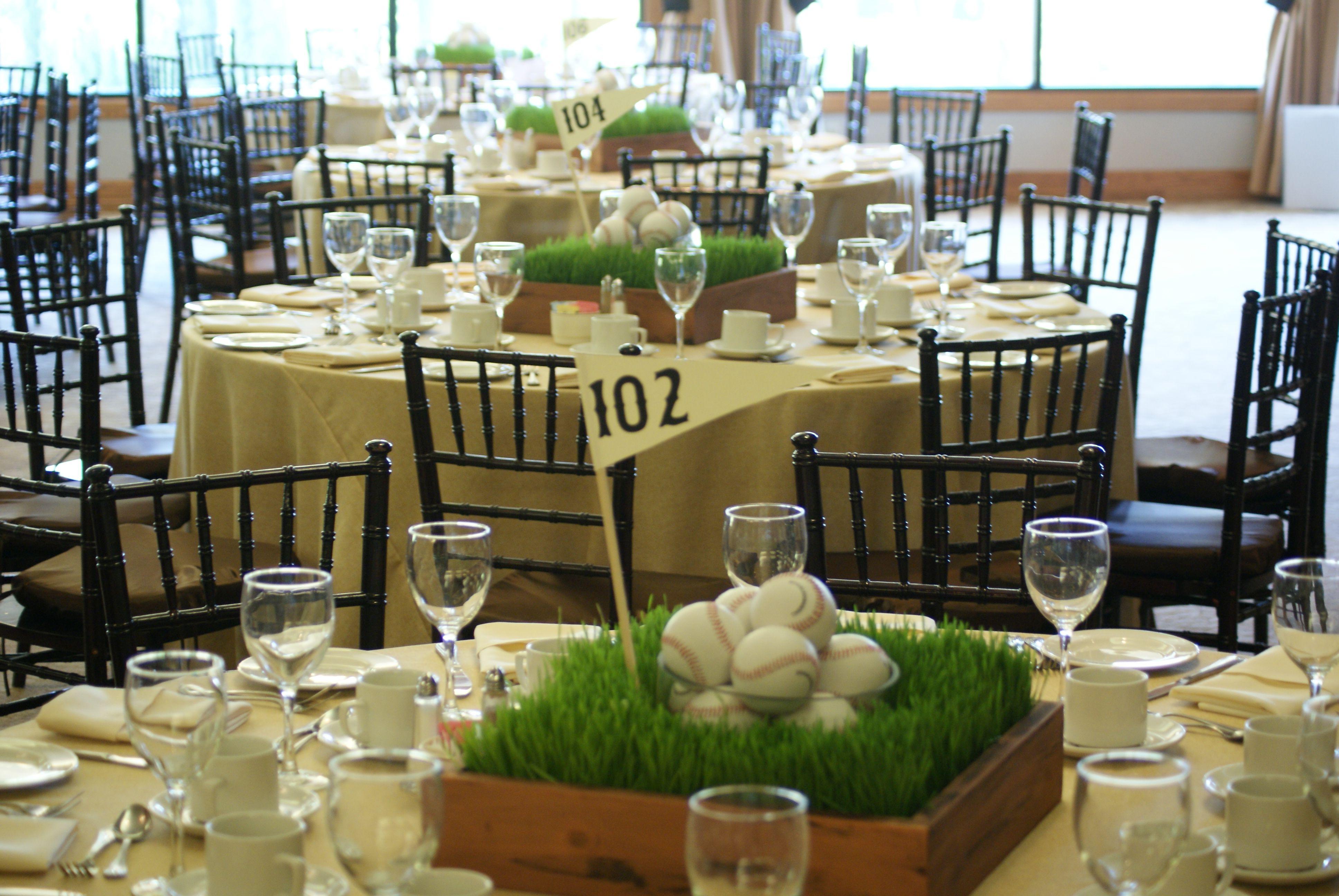 Grass Centerpieces For Buffet