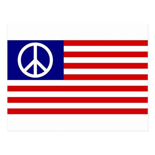 Peace Sign Symbol Us Stars Stripes American Flag Postcard Zazzle Com In 2020 Peace Sign Symbol American Flag Peace Sign