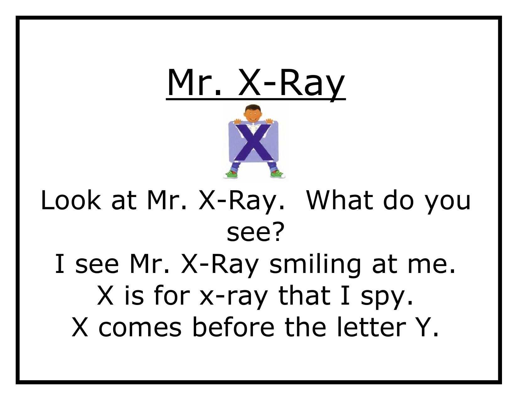 X Ray Worksheets