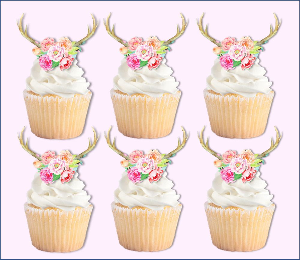12 PRECUT edible wafer//rice paper Woodland Animals cake//cupcake toppers