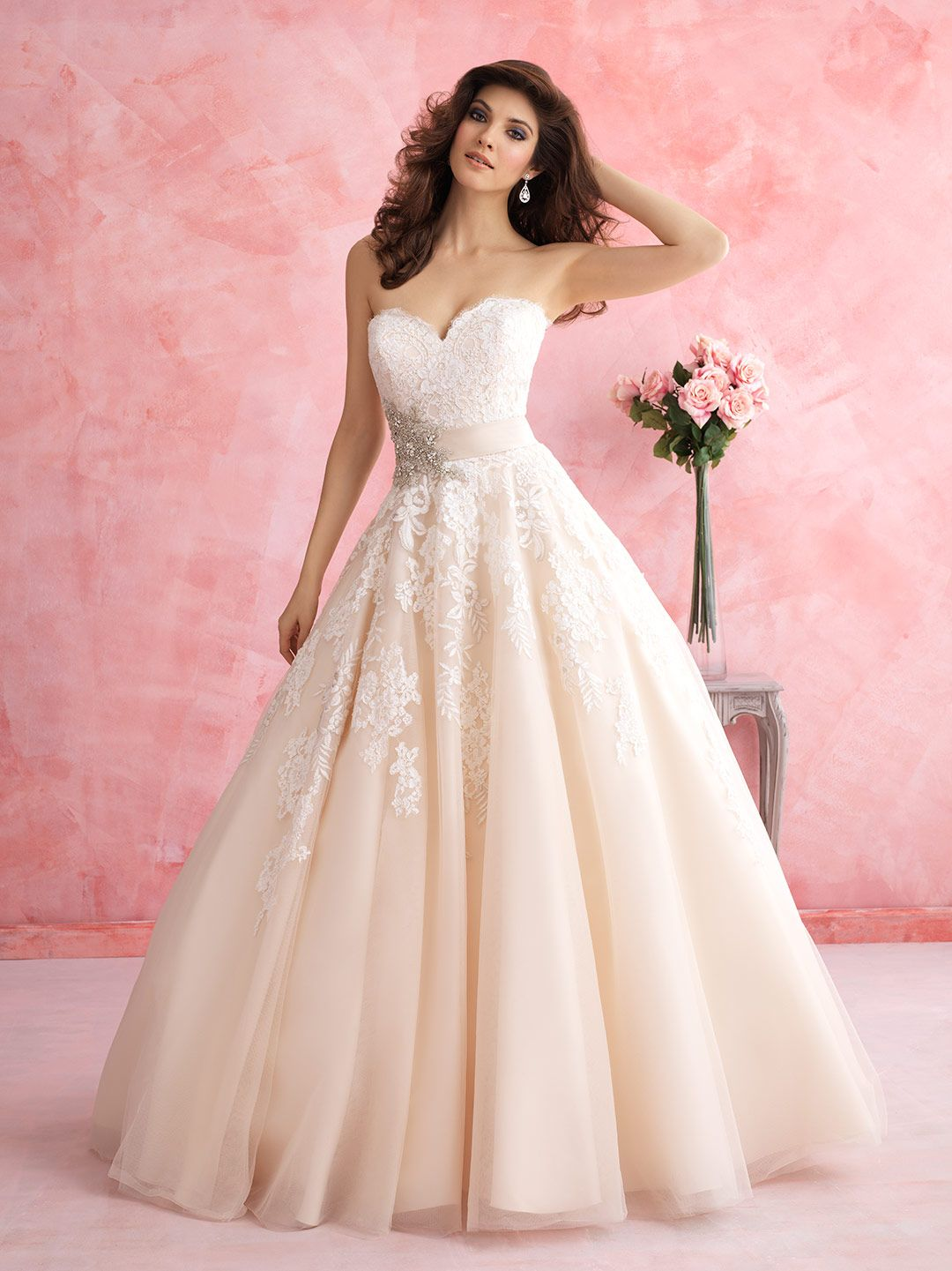 This strapless ballgown by Allure Bridals is beyond pretty ...