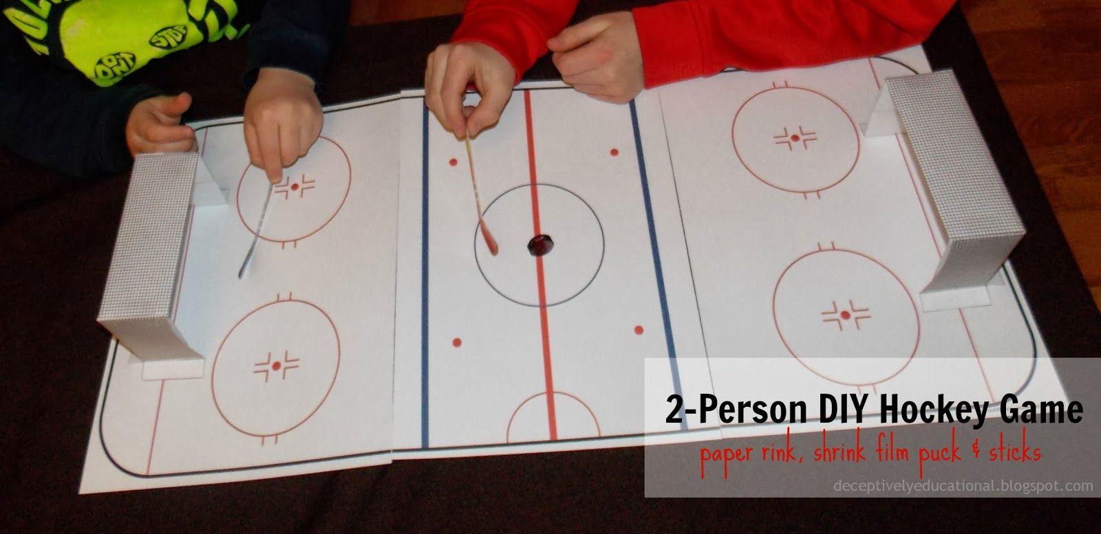Diy Mini Hockey Game Relentlessly Fun Deceptively Educational