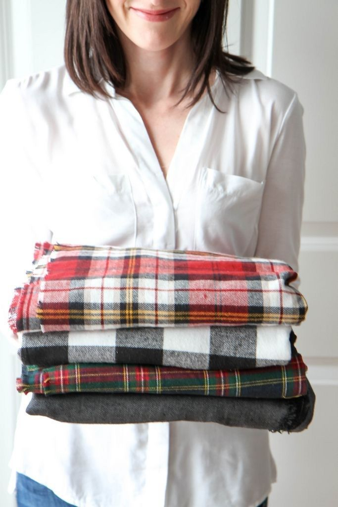 how to make a fleece and flannel blanket