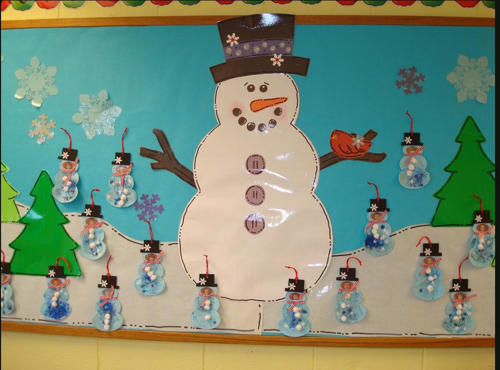 Cute Winter Bulletin Board Christmas Preschool Boards
