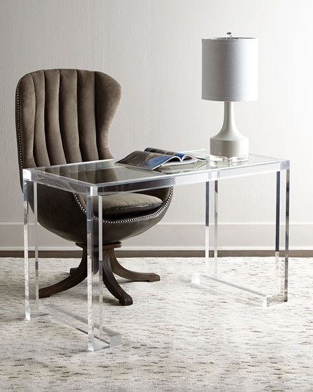 Interlude Home Dana Acrylic Writing Desk In 2020 Writing Desk