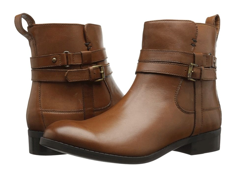 Womens Boots Clarks Pita Austin Dark Tan Leather