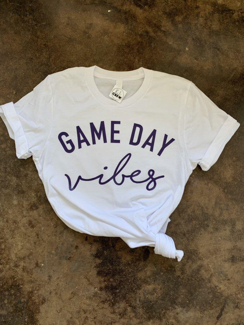 Game day vibes shirt lsu tee sec football high school