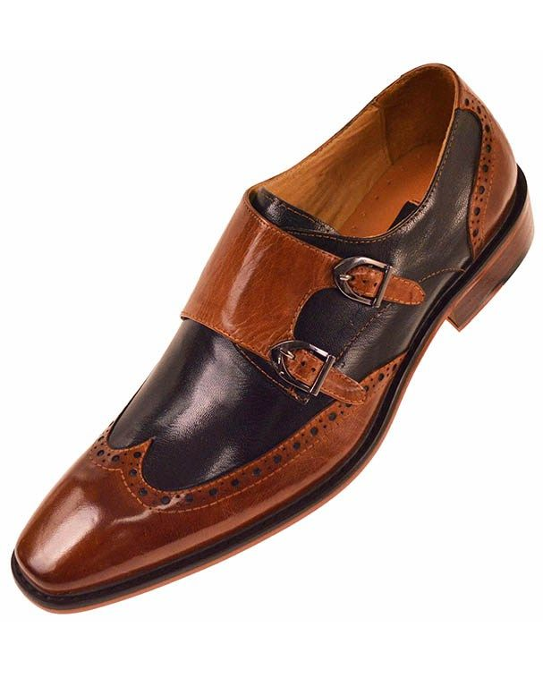 Steven Land Monk Strap Leather Loafer 84zgc